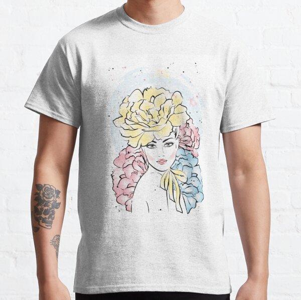 Beautiful flower girl portrait Classic T-Shirt