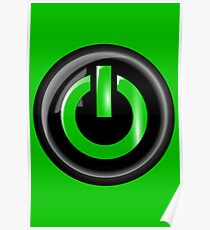 Power Button Symbol   Poster