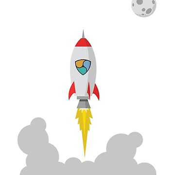 NEM XEM Rocket Spaceship CryptoCurrency  by UrbanLighthouse
