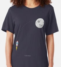 Ripple XRP Rocket Raumschiff CryptoCurrency Slim Fit T-Shirt