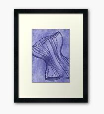 Purple Corset Framed Print