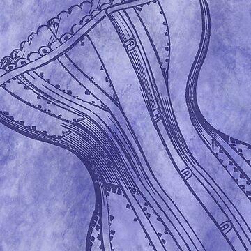 Purple Corset by keltickat