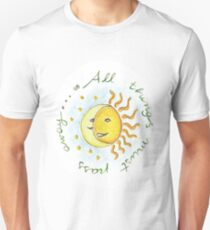All things must pass - sun and moon T-Shirt