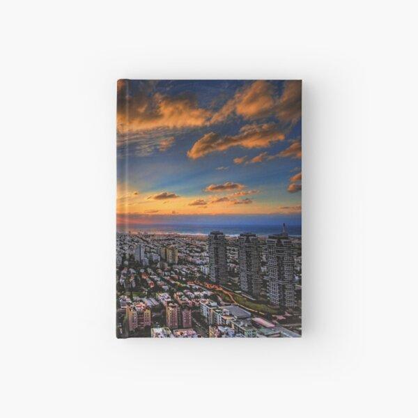 Tel Aviv, sunset time Hardcover Journal