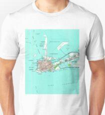 Vintage Map of Key West Florida (1962) Unisex T-Shirt