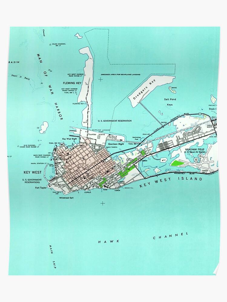 Vintage Map of Key West Florida (1962) | Poster on siesta key map, monroe county map, hawaii map, boston map, chicago map, fl keys map, freeport bahamas map, new york city map, big coppitt key map, grand cayman map, marathon keys map, tampa map, palm beach county map, orlando map, georgia map, texas map, broward county map, florida map, california map, cape kennedy map,