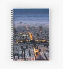 Here comes the fog  Spiral Notebook