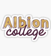 Albion College- Gold Sticker