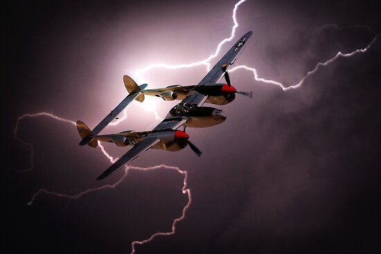 P-38 Lightning Strike by Airpower Art