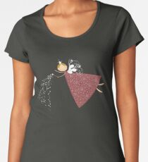 Whimsical Magical Snowflakes Fairy Women's Premium T-Shirt