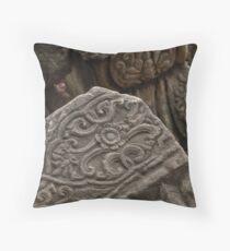 Ancient Stonework Throw Pillow