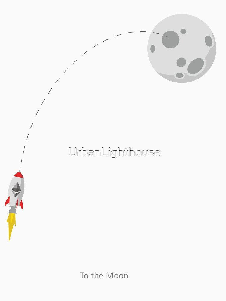 Ethereum ETH Rocket Spaceship CryptoCurrency  by UrbanLighthouse