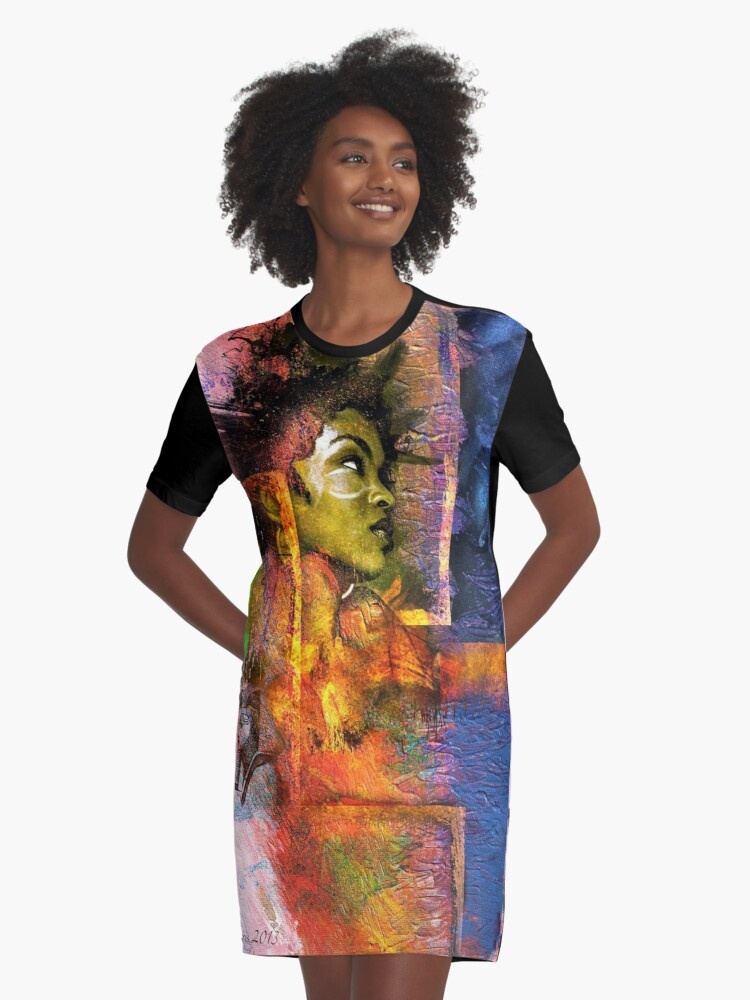 Lauryn Hill Graphic T-Shirt Dress Front