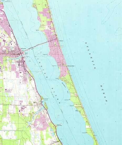 Vintage Map Of Melbourne Florida 1949 Posters By Bravuramedia