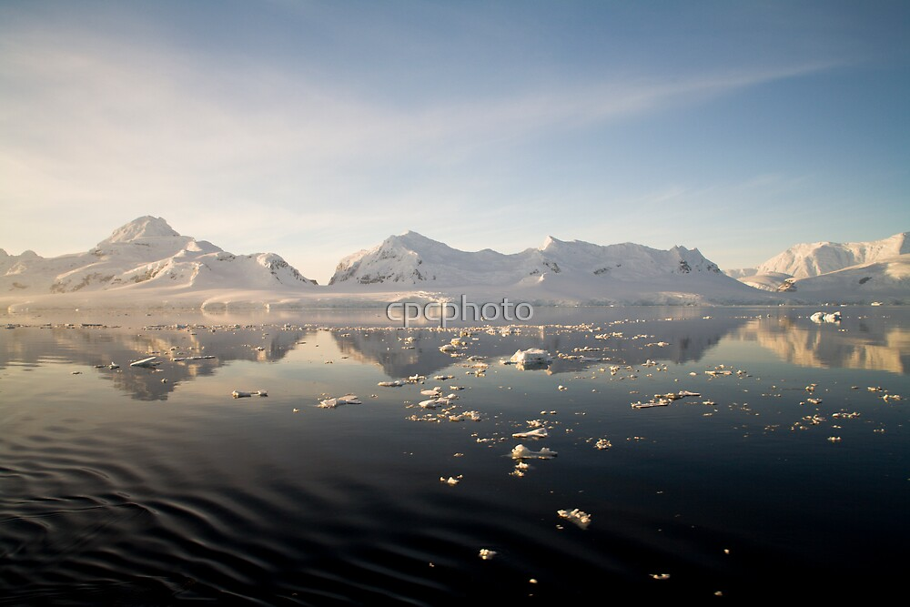Sunset over the Neumayer Channel, Antarctica - Number eight by cpcphoto