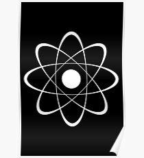 Stylized Atom Poster
