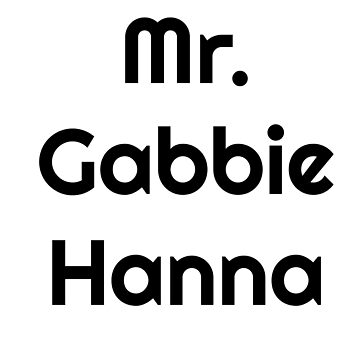 Mr. Gabbie Hanna by BaileyLisa