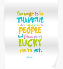 Dr. Seuss Thankful Quote Poster