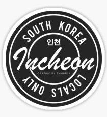 Locals Only Incheon Korea Sticker