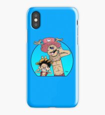 Monkey D. Luffy & Chopper vs Calvin & Hobbes iPhone Case