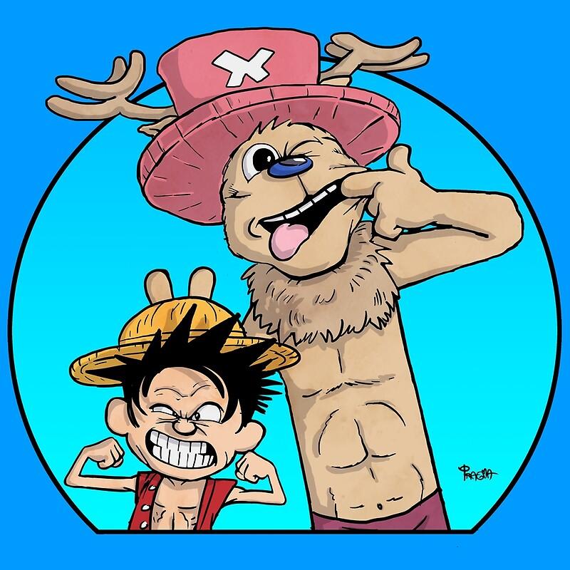 Pósters «Monkey D. Luffy & Chopper vs Calvin & Hobbes» de Pragma ...