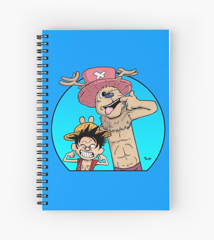Cuadernos de espiral «Monkey D. Luffy & Chopper vs Calvin & Hobbes ...