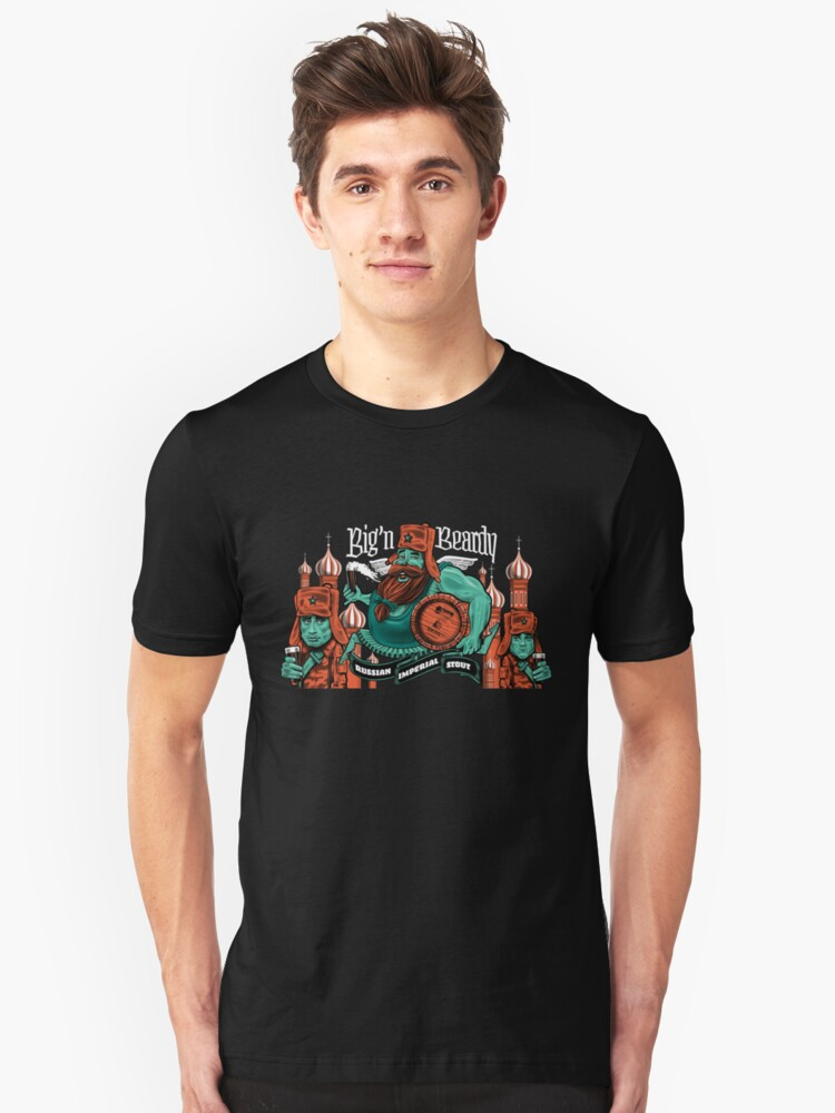 'Big n' Beardy' Russian Imperial Stout  Unisex T-Shirt Front