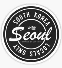 Locals Only Seoul Korea Sticker