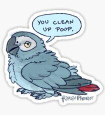 Clean Up Poop Sticker