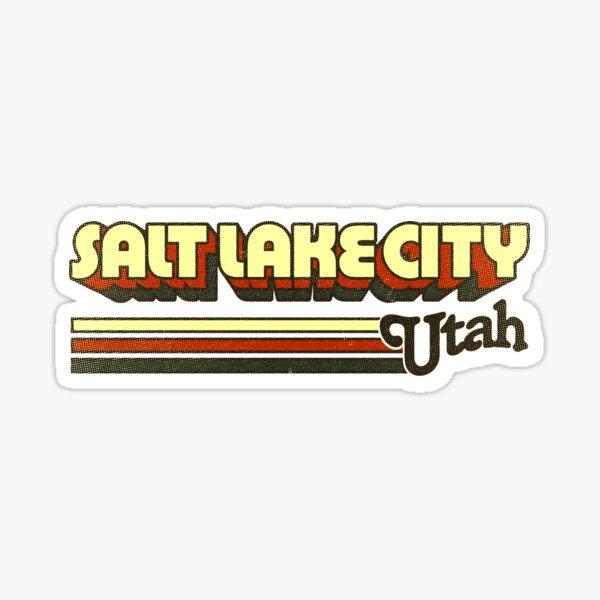 Salt Lake City, UT   City Stripes Sticker