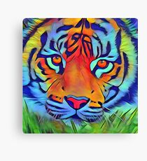 Bright tiger paintin Canvas Print