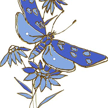 Flower Garden Blue by Digitalbcon