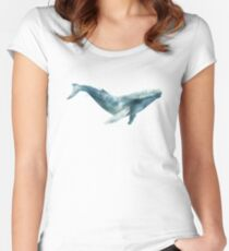 Humpback Whale Fitted Scoop T-Shirt
