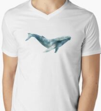Humpback Whale V-Neck T-Shirt