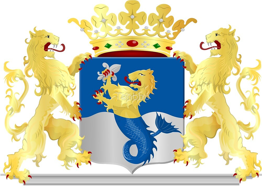 Flevoland Coat of Arms, Netherlands by Tonbbo