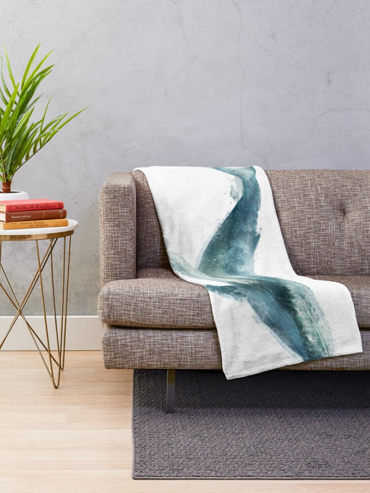 Alternate view of Humpback Whale Throw Blanket