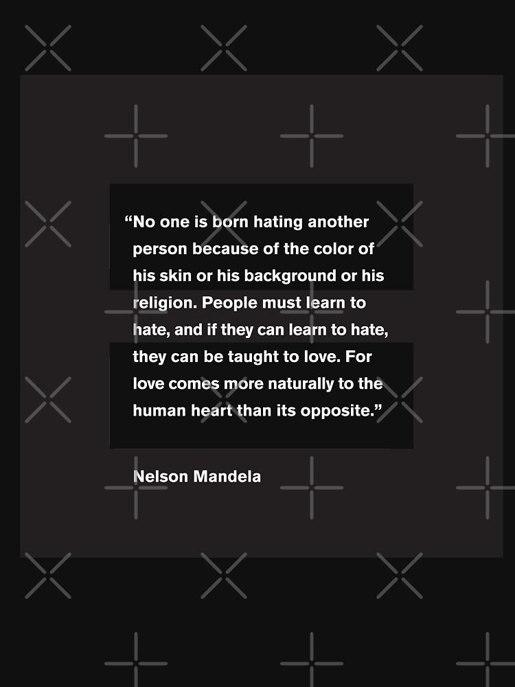 Barack Obama - Nelson Mandela Love Quote by f22design