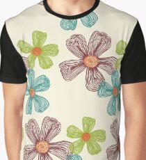 Flower Doodles Graphic T-Shirt