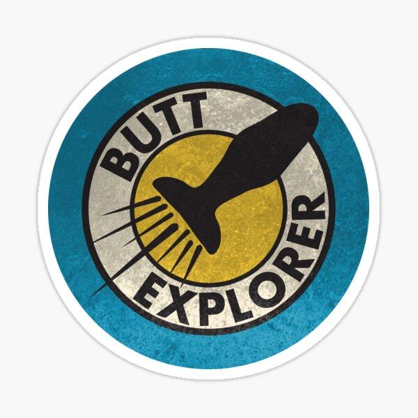 Butt Explorer Pegatina