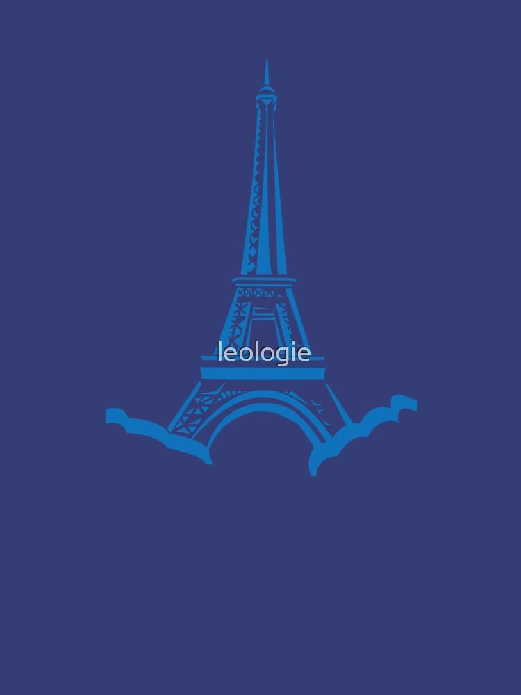 Blue Eiffel Tower by leologie