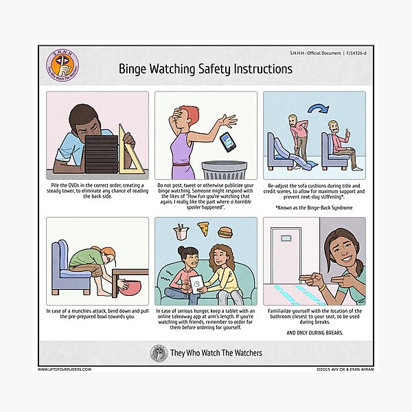 Binge Watching Safety Instructions Photographic Print