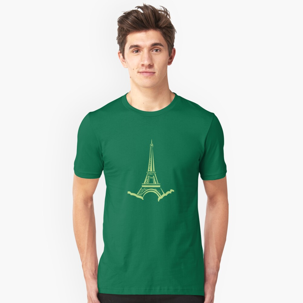 Green Eiffel Tower Unisex T-Shirt Front
