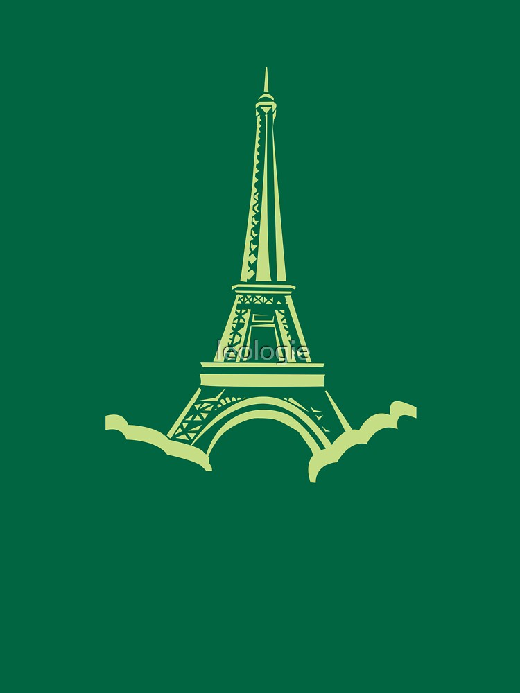 Green Eiffel Tower by leologie