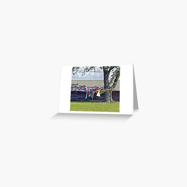 Country Clothesline Greeting Card