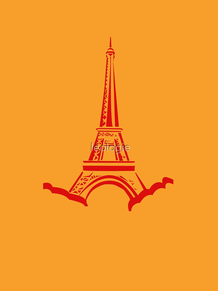 Red Eiffel Tower by leologie