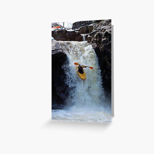 Kayaking waterfall on the Etive in Scotland Greeting Card