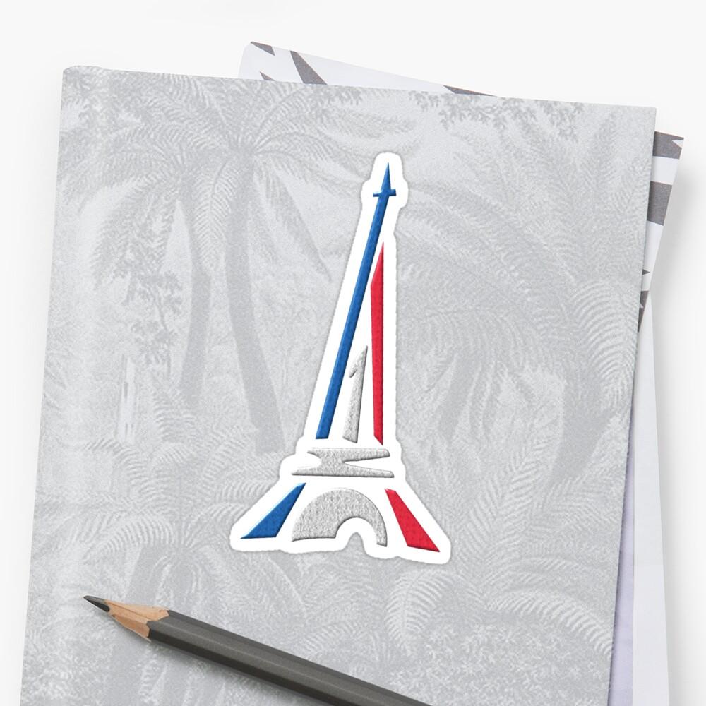 Eiffel Tower Sticker Front