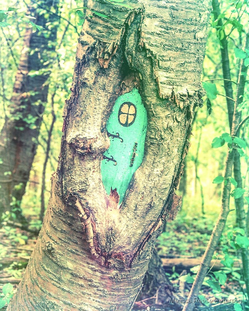 Green Forest Gnome Home by Melissa Reese Peterson