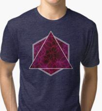 Wires Dark Pink Tri-blend T-Shirt