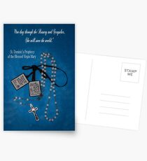 Rosary and Scapular prophesy Postcards